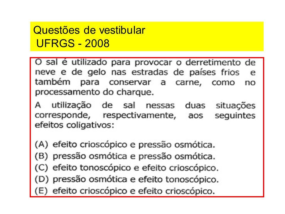 Questões de vestibular UFRGS - 2008