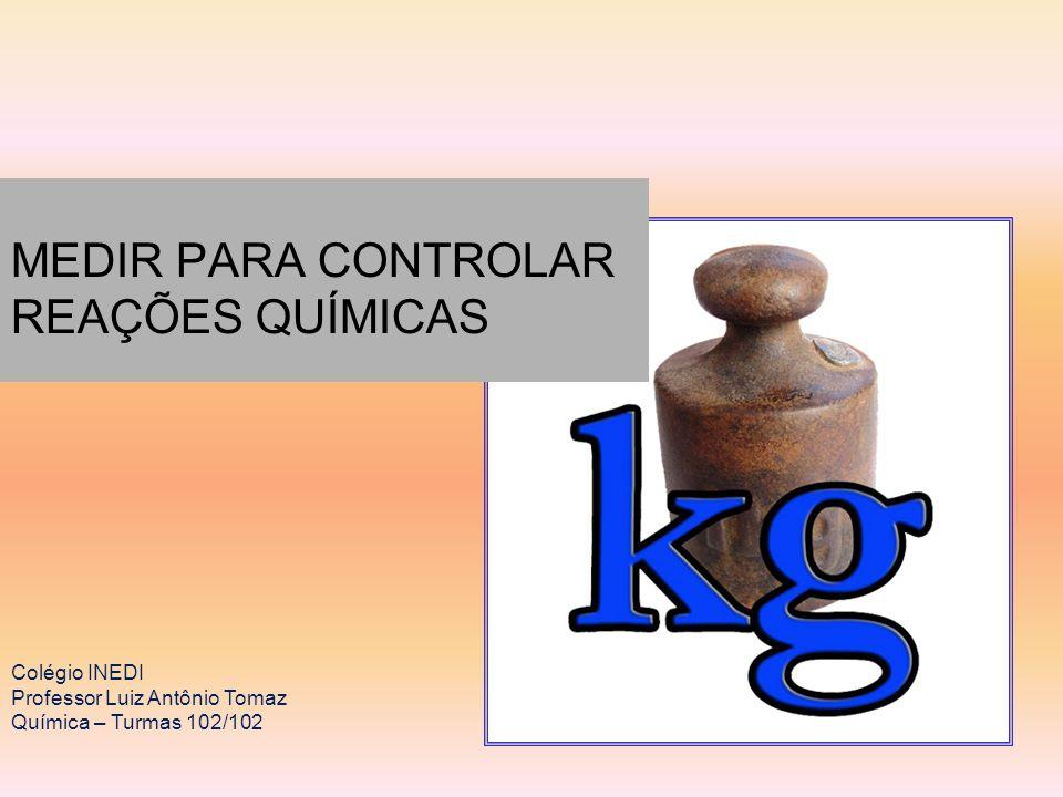 MEDIR PARA CONTROLAR REAÇÕES QUÍMICAS Colégio INEDI Professor Luiz Antônio Tomaz Química – Turmas 102/102