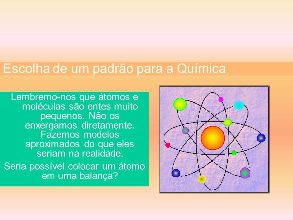 Lembremo-nos que átomos e moléculas são entes muito pequenos. Não os enxergamos diretamente. Fazemos modelos aproximados do que eles seriam na realida