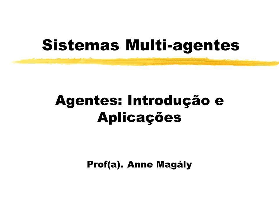 Sistemas Multi-agentes Agentes: Introdução e Aplicações Prof(a). Anne Magály