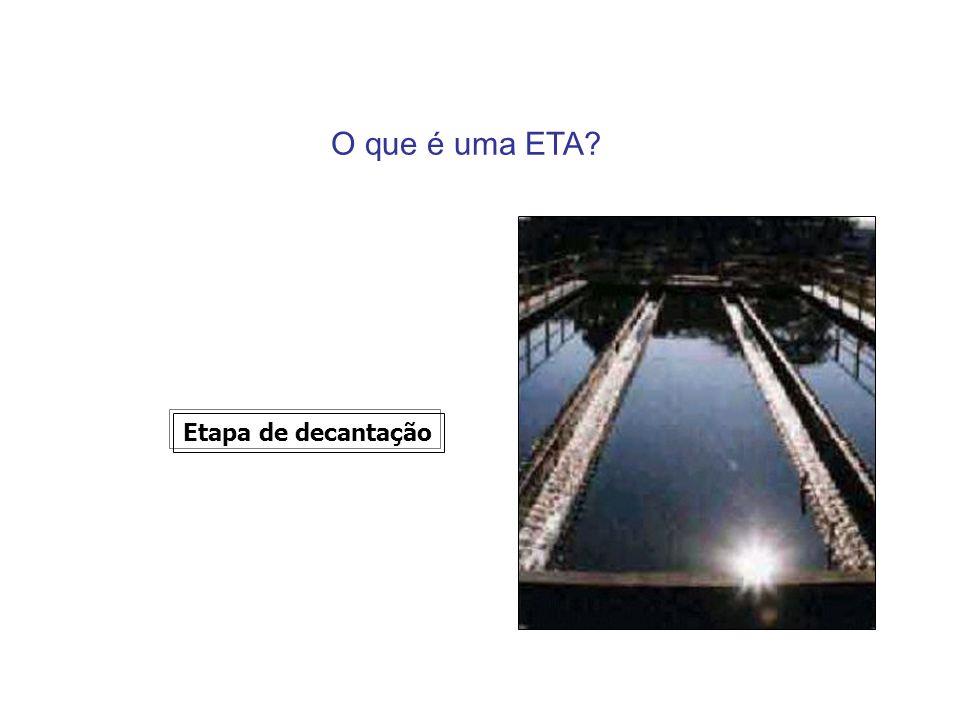 O que é uma ETA? Etapa de decantação