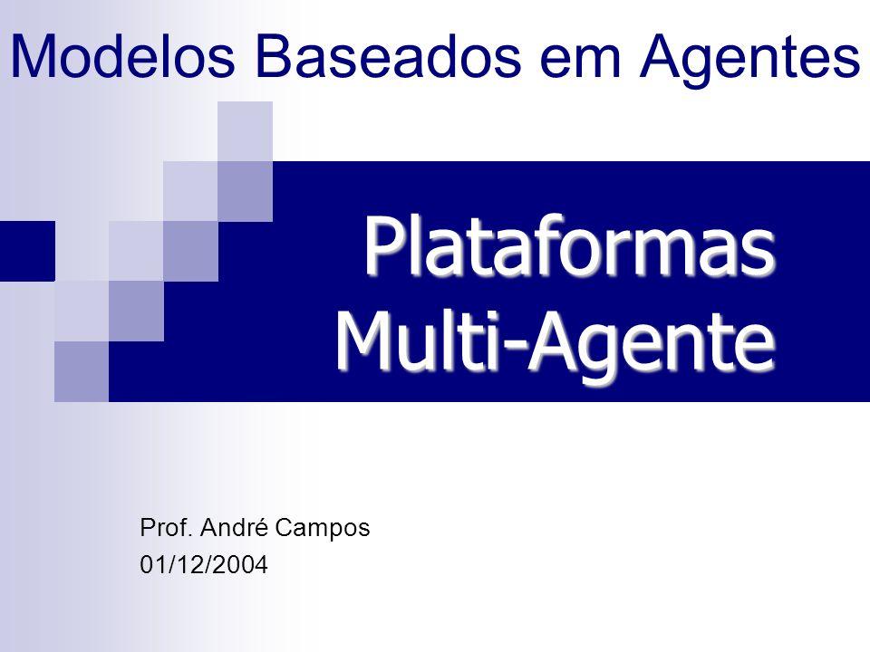 Modelos Baseados em Agentes Prof. André Campos 01/12/2004 PlataformasMulti-Agente