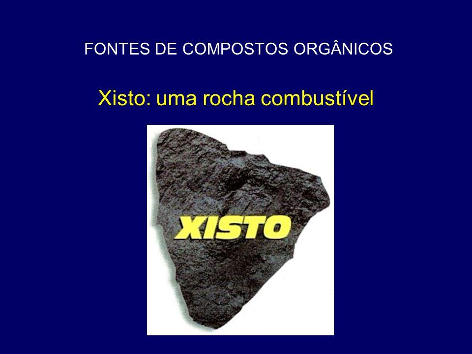 FONTES DE COMPOSTOS ORGÂNICOS Xisto: uma rocha combustível