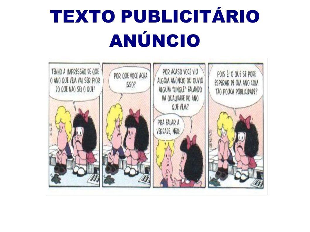 TEXTO PUBLICITÁRIO ANÚNCIO
