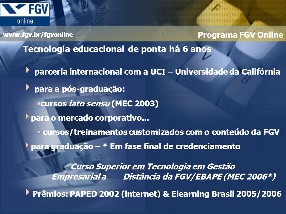 www.fgv.br/fgvonline Soluções...