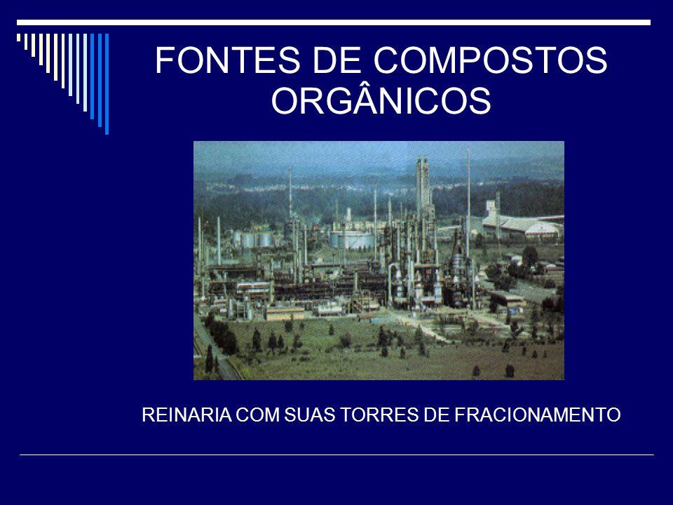 FONTES DE COMPOSTOS ORGÂNICOS REINARIA COM SUAS TORRES DE FRACIONAMENTO