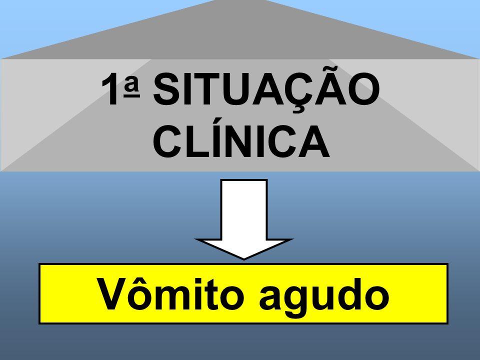 1 a SITUAÇÃO CLÍNICA Vômito agudo