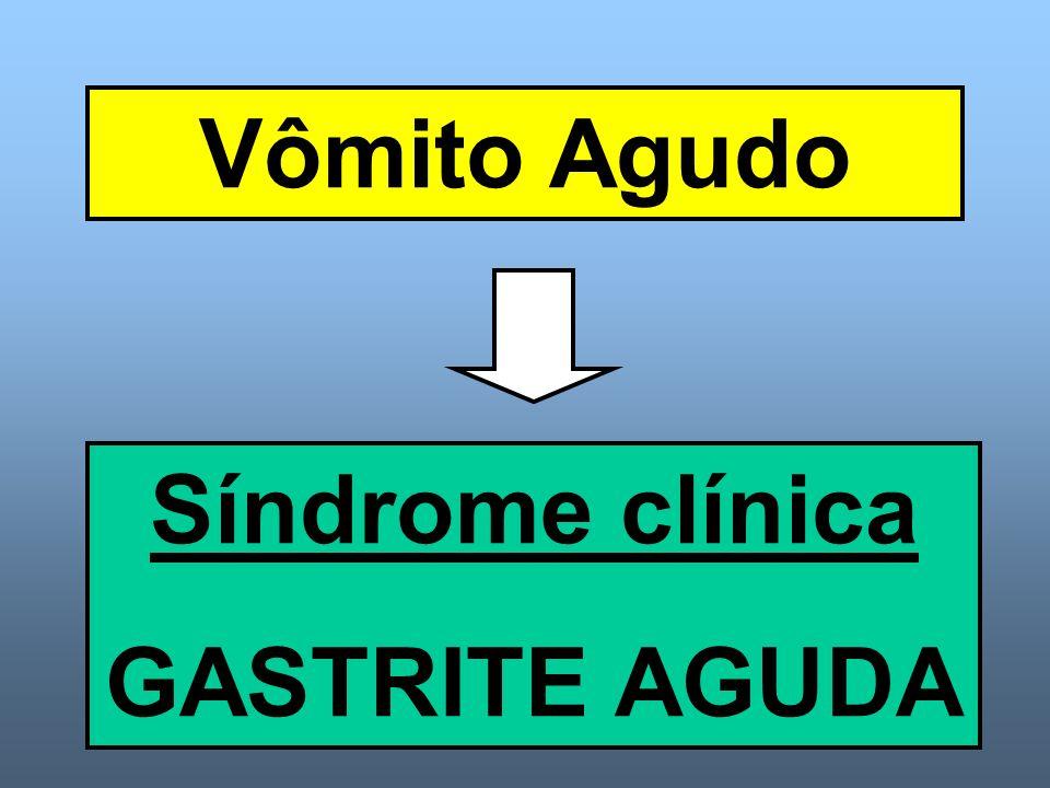 Vômito Agudo Síndrome clínica GASTRITE AGUDA