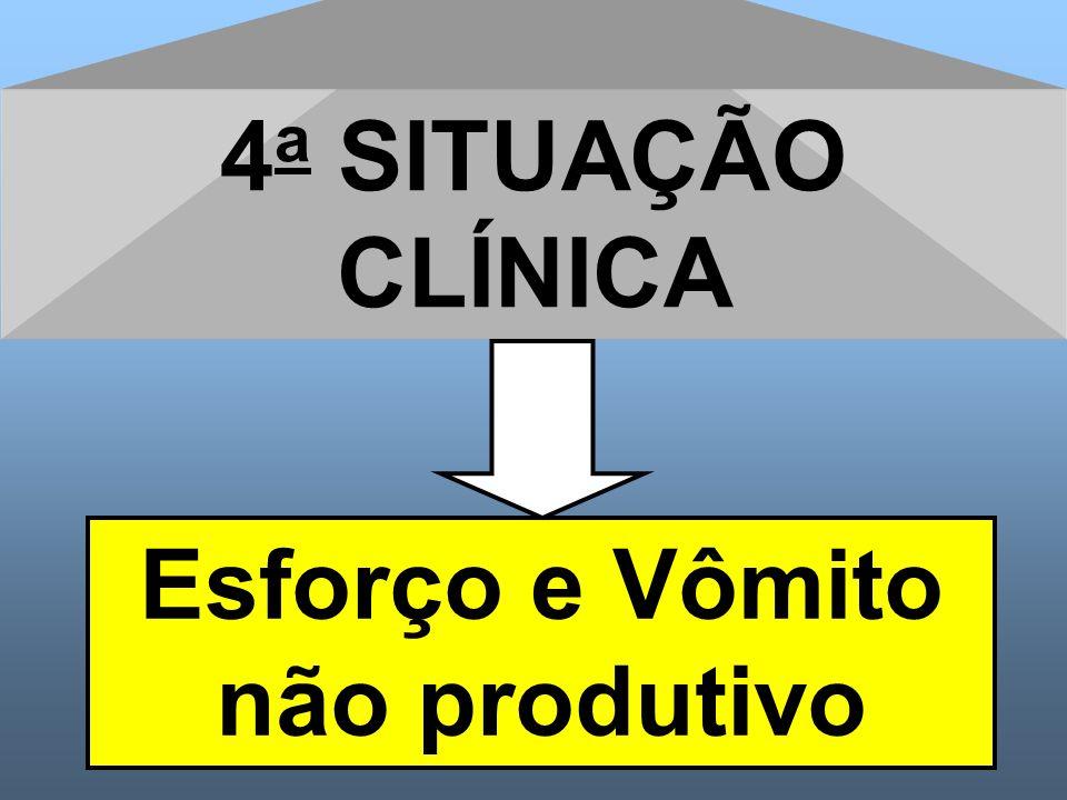 4 a SITUAÇÃO CLÍNICA Esforço e Vômito não produtivo