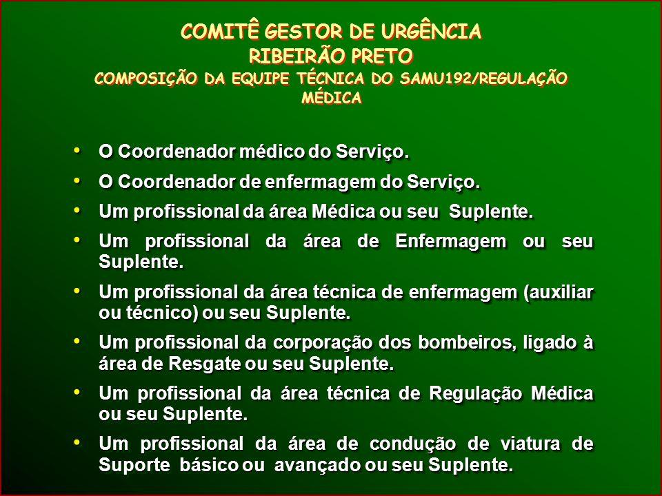 O Coordenador médico do Serviço. O Coordenador médico do Serviço.