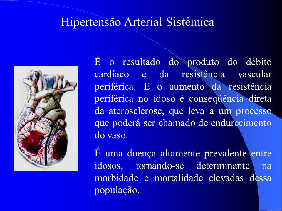 Hipertensão Arterial Sistêmica É o resultado do produto do débito cardíaco e da resistência vascular periférica. E o aumento da resistência periférica