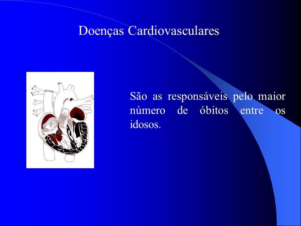 Doenças Cardiovasculares São as responsáveis pelo maior número de óbitos entre os idosos.