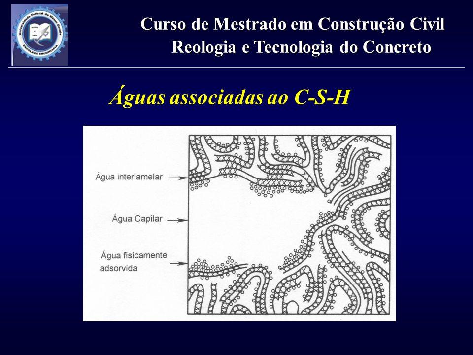 Águas associadas ao C-S-H Curso de Mestrado em Construção Civil Reologia e Tecnologia do Concreto
