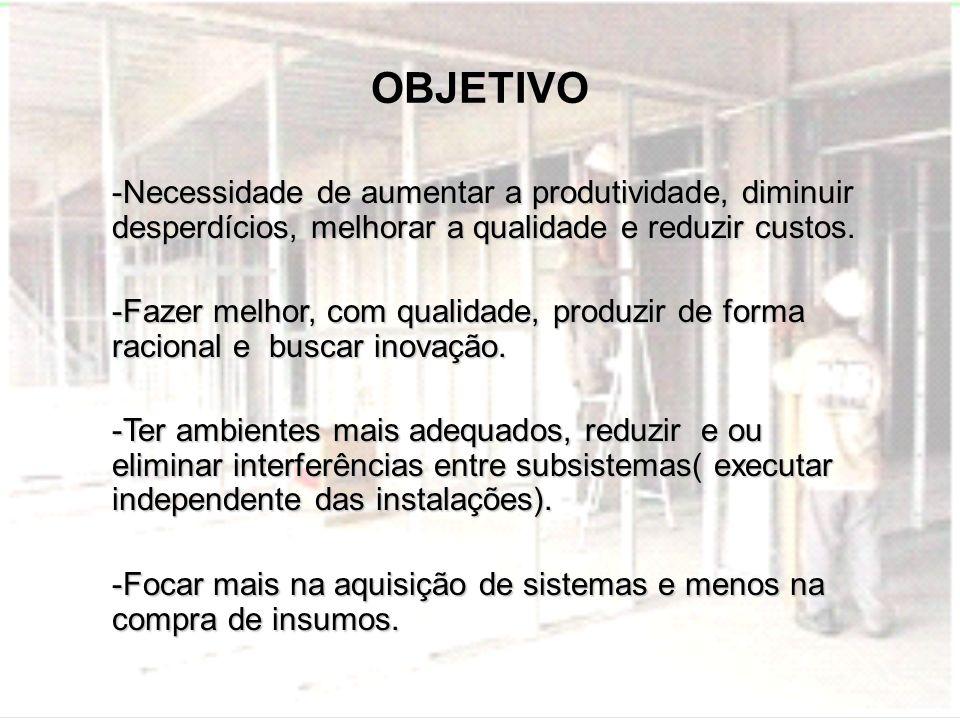 OBJETIVO -Necessidade de aumentar a produtividade, diminuir desperdícios, melhorar a qualidade e reduzir custos. -Fazer melhor, com qualidade, produzi