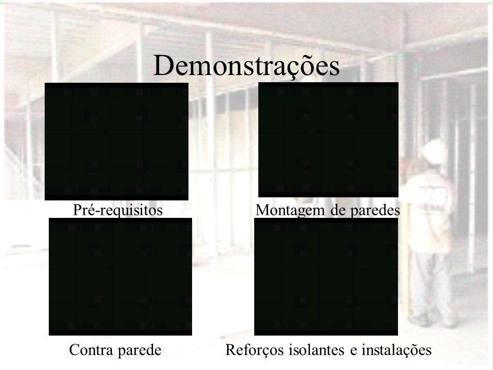 Demonstrações Pré-requisitosMontagem de paredes Contra paredeReforços isolantes e instalações