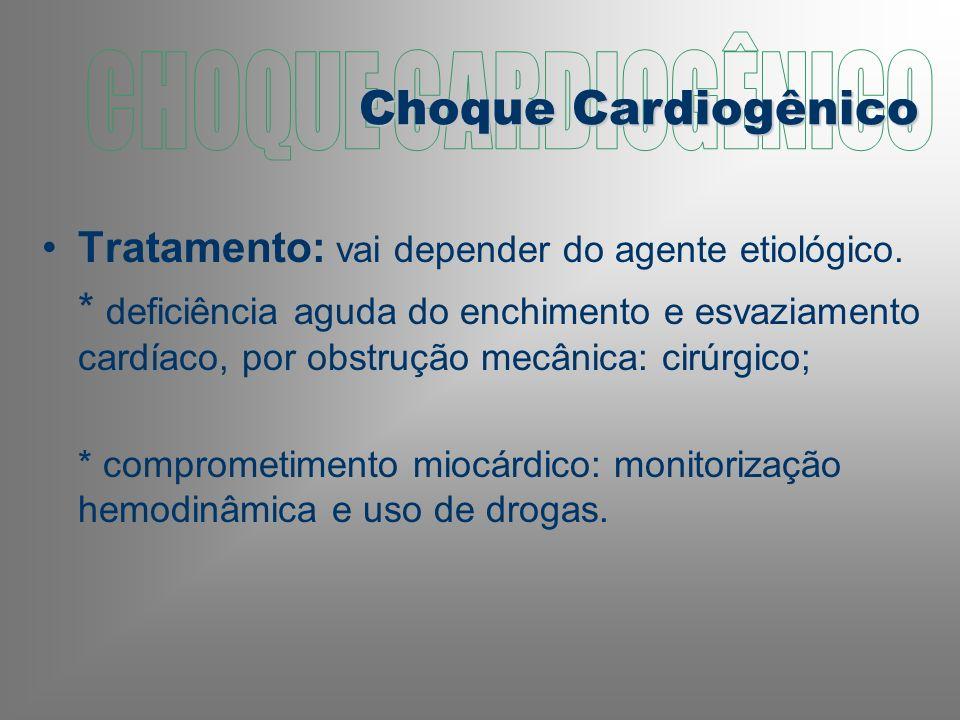 Tratamento: vai depender do agente etiológico.