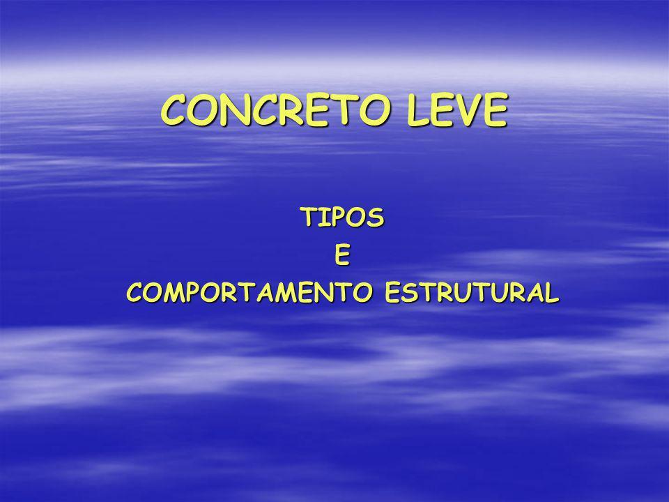 CONCRETO LEVE TIPOSE COMPORTAMENTO ESTRUTURAL