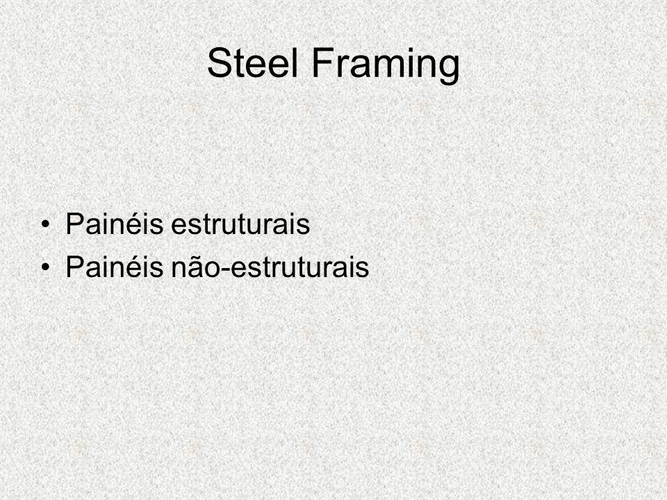 Painéis estruturais Painéis não-estruturais