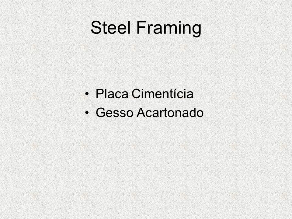 Steel Framing Placa Cimentícia Gesso Acartonado