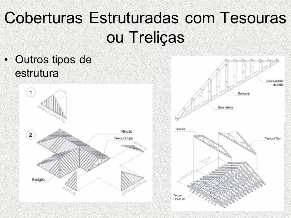 Coberturas Estruturadas com Tesouras ou Treliças Outros tipos de estrutura