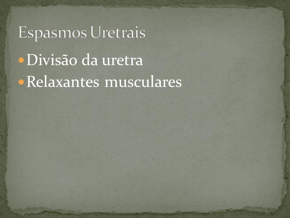 Divisão da uretra Relaxantes musculares