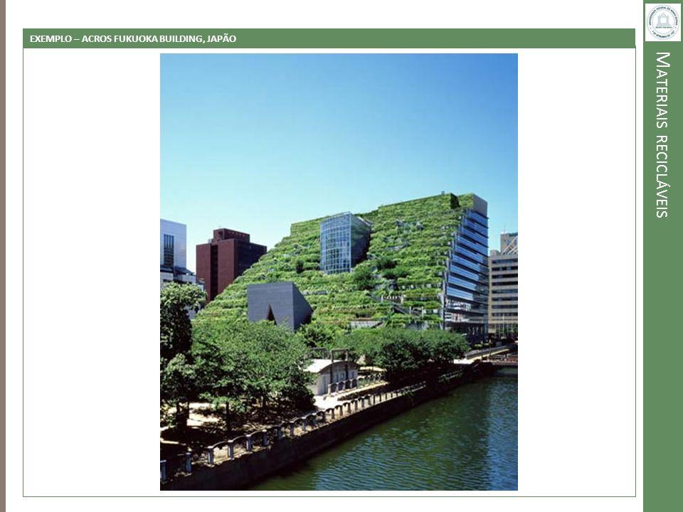 M ATERIAIS RECICLÁVEIS EXEMPLO – ACROS FUKUOKA BUILDING, JAPÃO