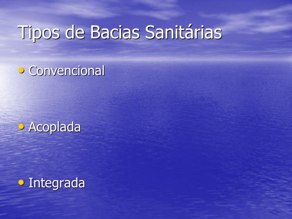Tipos de Bacias Sanitárias Convencional Convencional Acoplada Acoplada Integrada Integrada