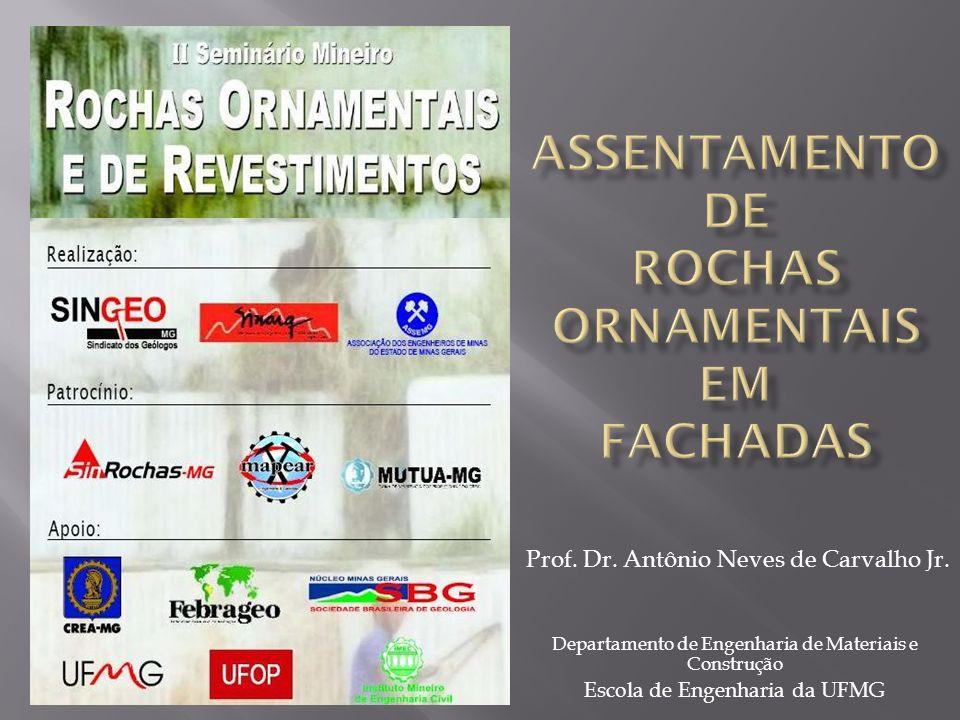 Prof. Dr. Antônio Neves de Carvalho Jr. Departamento de Engenharia de Materiais e Construção Escola de Engenharia da UFMG