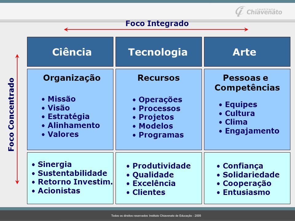 Ciência Tecnologia Arte Organização Recursos Pessoas e Competências Missão Visão Estratégia Alinhamento Valores Operações Processos Projetos Modelos P