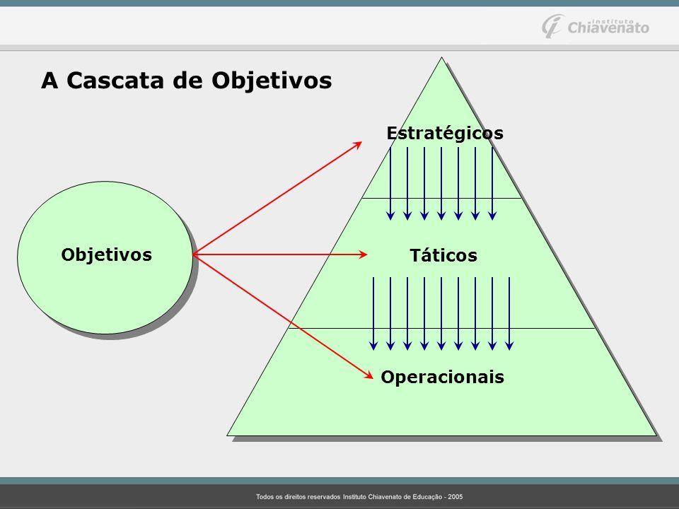 Estratégicos Táticos Operacionais Objetivos A Cascata de Objetivos