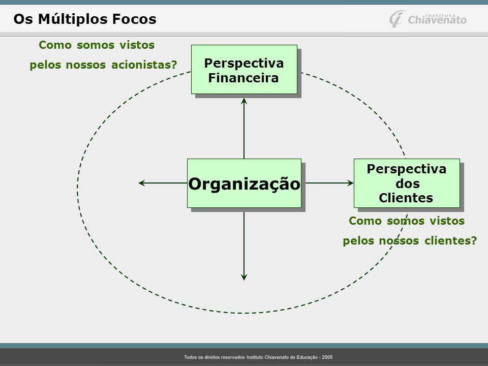 Perspectiva Financeira Perspectiva dos Clientes Como somos vistos pelos nossos acionistas? Como somos vistos pelos nossos clientes? Organização Os Múl