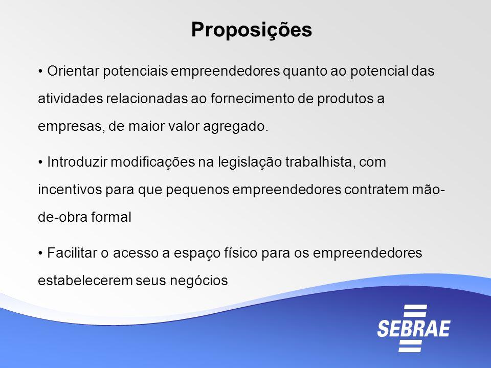 Orientar potenciais empreendedores quanto ao potencial das atividades relacionadas ao fornecimento de produtos a empresas, de maior valor agregado. In