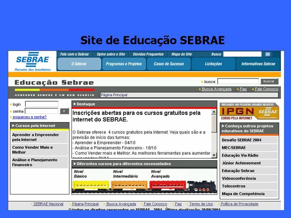 Primeiro lugar no Prêmio ABED/Embratel de Educação a Distância no ano de 2004.