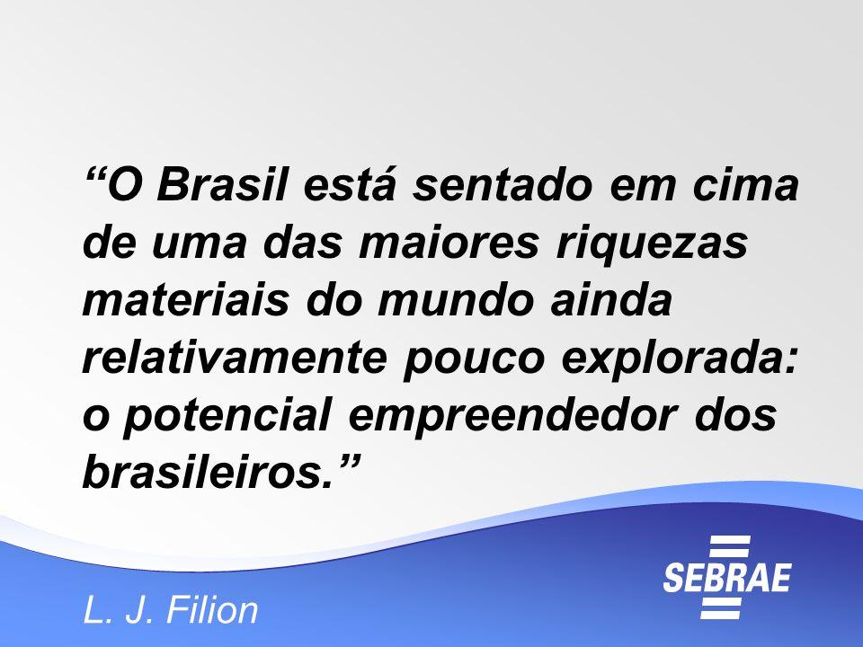 O Brasil está sentado em cima de uma das maiores riquezas materiais do mundo ainda relativamente pouco explorada: o potencial empreendedor dos brasile