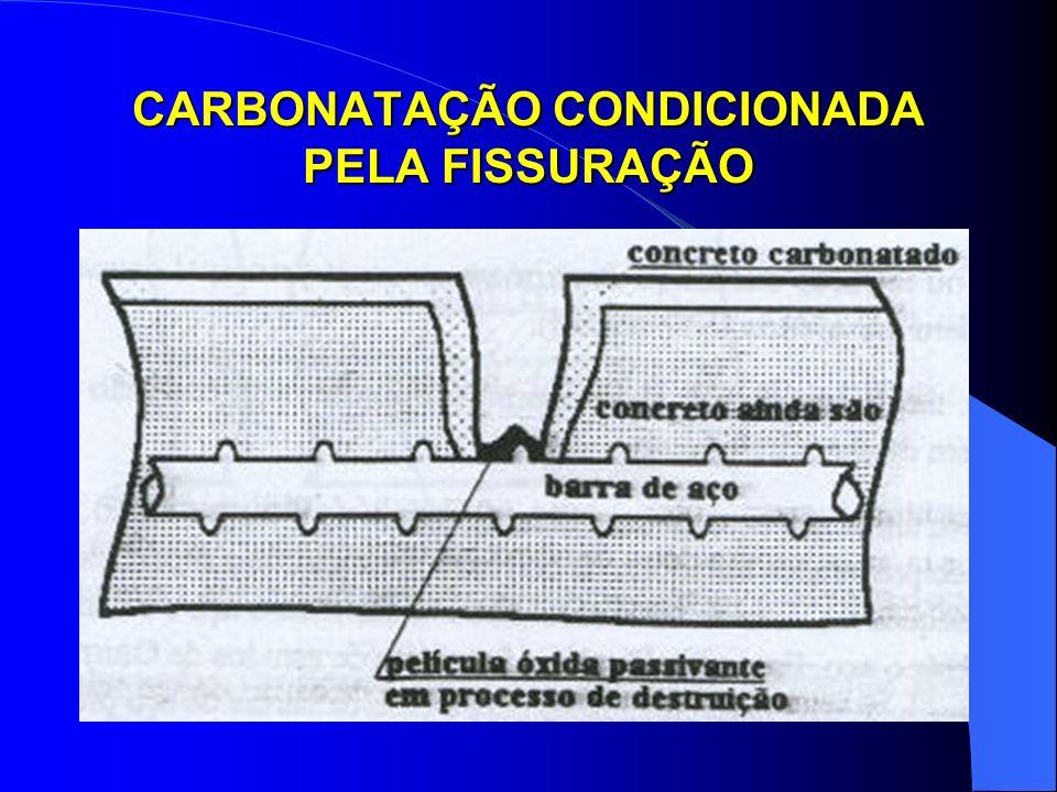 CARBONATAÇÃO CONDICIONADA PELA FISSURAÇÃO