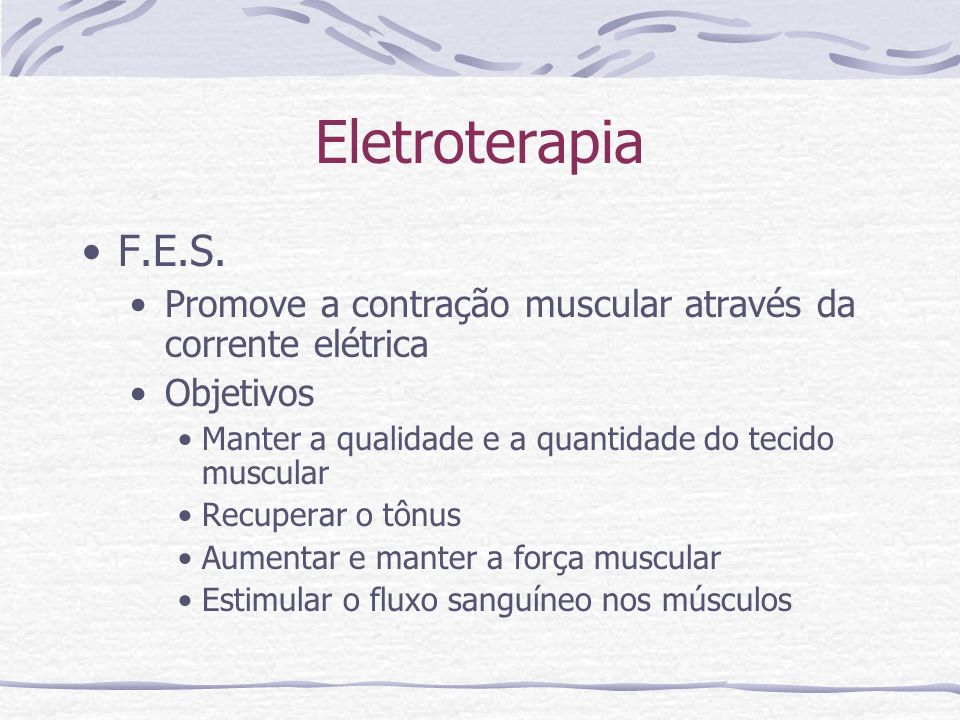 Eletroterapia F.E.S.