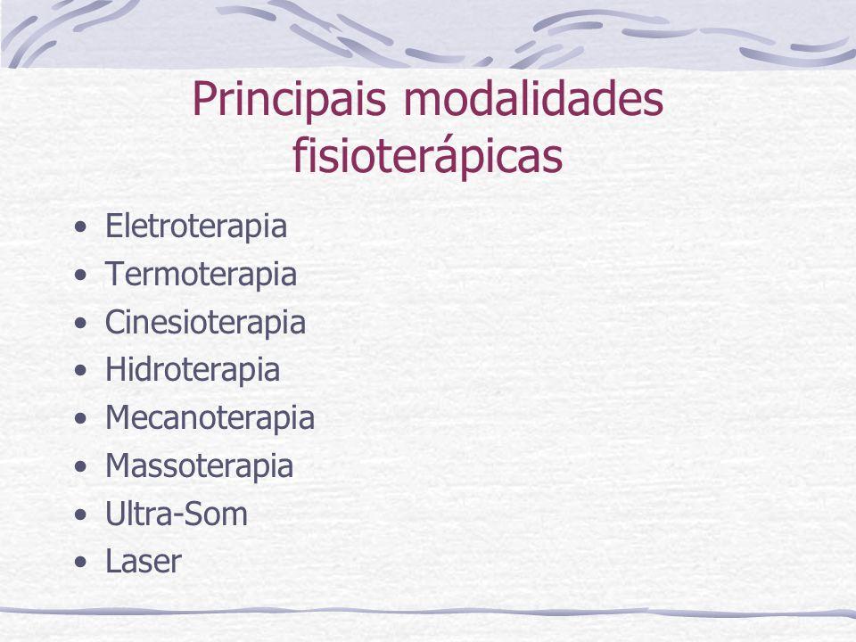 Eletroterapia Consiste no uso de correntes elétricas dentro da terapêutica.