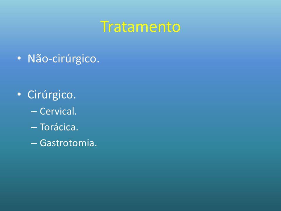 Tratamento Não-cirúrgico. Cirúrgico. – Cervical. – Torácica. – Gastrotomia.