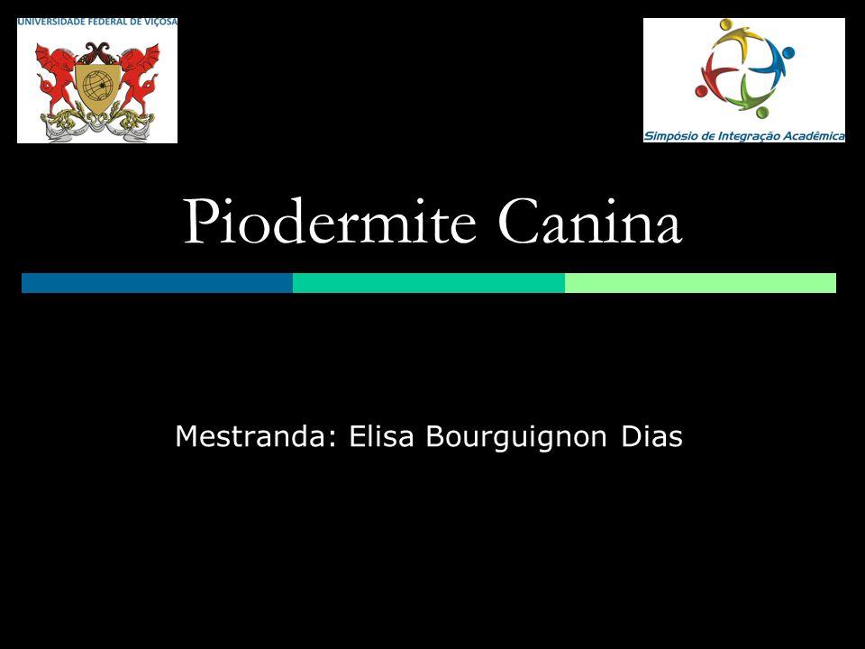 Piodermite Canina Mestranda: Elisa Bourguignon Dias