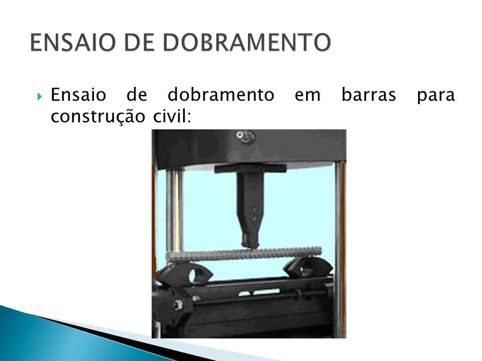 Ensaio de dobramento em barras para construção civil: