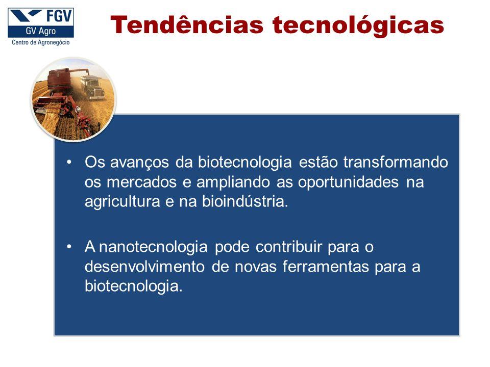 Tendências tecnológicas Os avanços da biotecnologia estão transformando os mercados e ampliando as oportunidades na agricultura e na bioindústria. A n