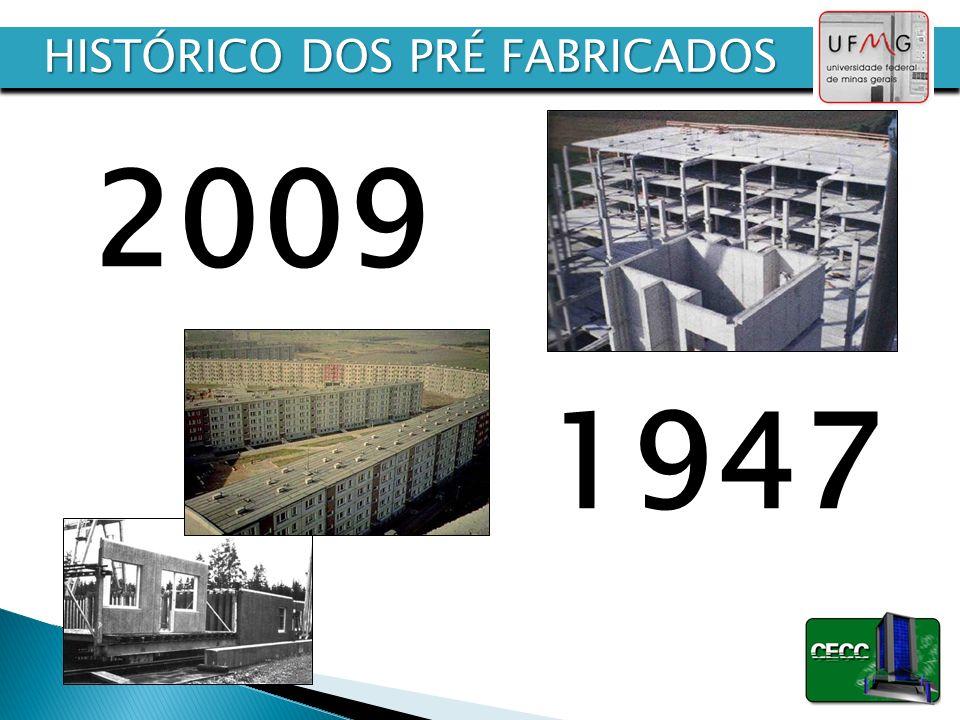 1947 2009 HISTÓRICO DOS PRÉ FABRICADOS