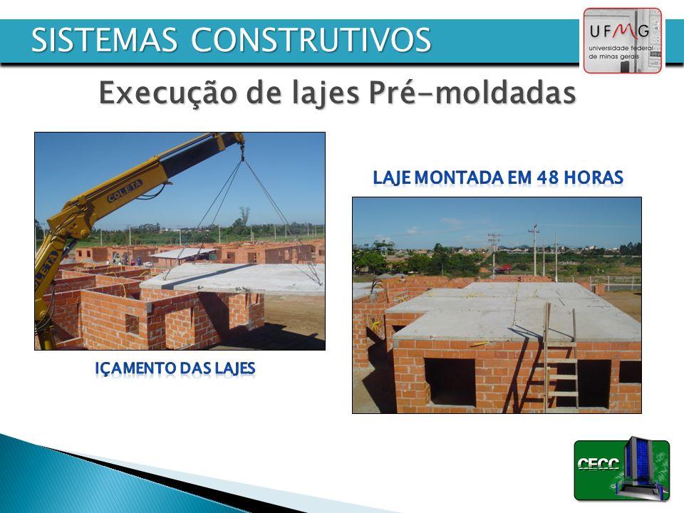 Execução de lajes Pré-moldadas SISTEMAS CONSTRUTIVOS