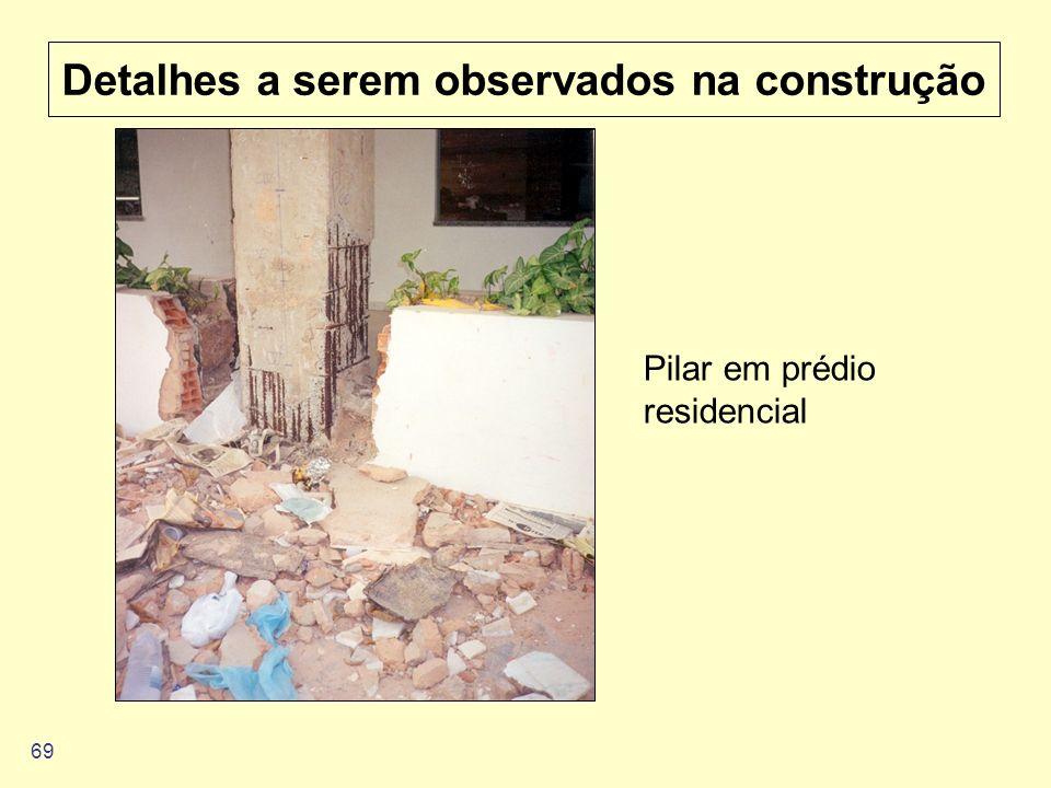 69 Detalhes a serem observados na construção Pilar em prédio residencial