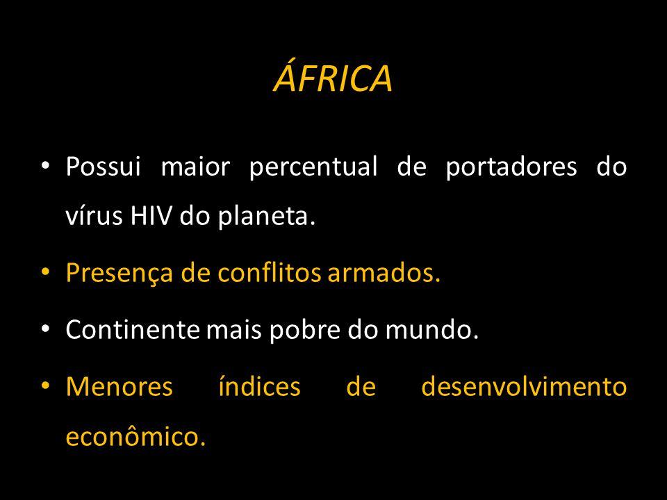 ÁFRICA Economia essencialmente agrícola com modelo baseado em pequenas lavouras de subsistência.