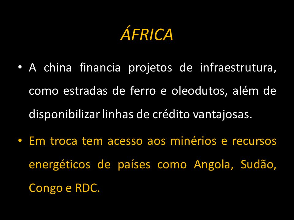 ÁFRICA Desde 2000 o comércio entre a chineses e africanos cresceu fortemente.