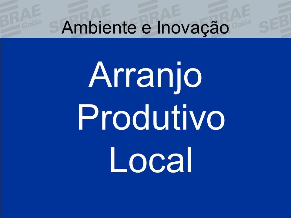 Ambiente e Inovação Arranjo Produtivo Local