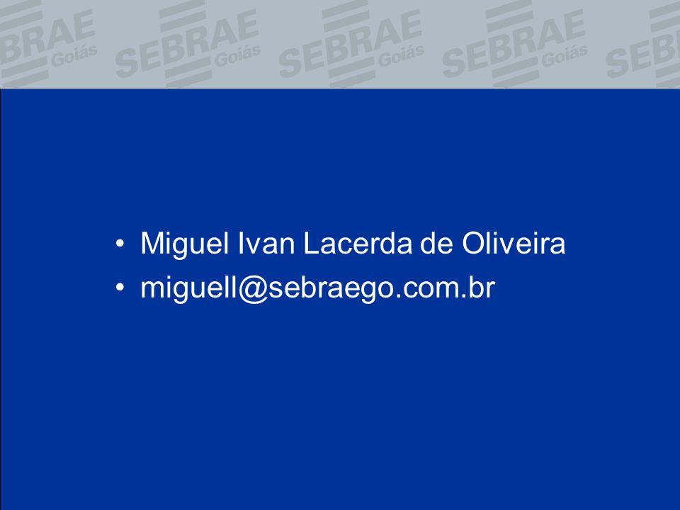Miguel Ivan Lacerda de Oliveira miguell@sebraego.com.br
