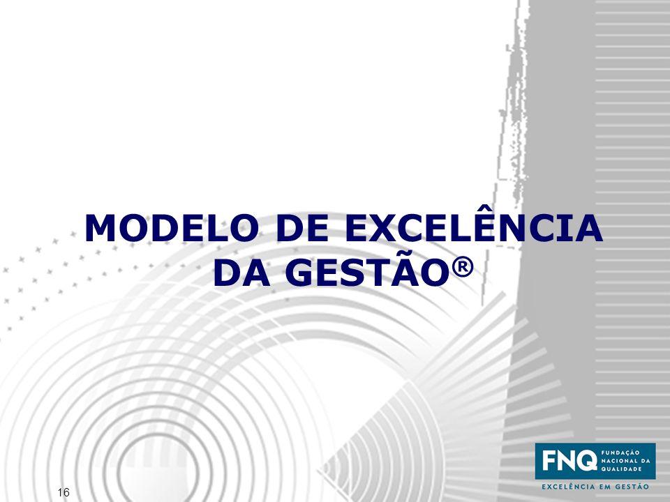16 MODELO DE EXCELÊNCIA DA GESTÃO ®