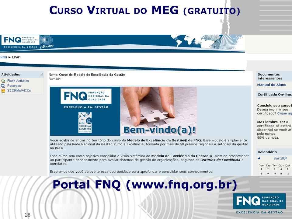 28 C URSO V IRTUAL DO MEG (GRATUITO) Portal FNQ (www.fnq.org.br)